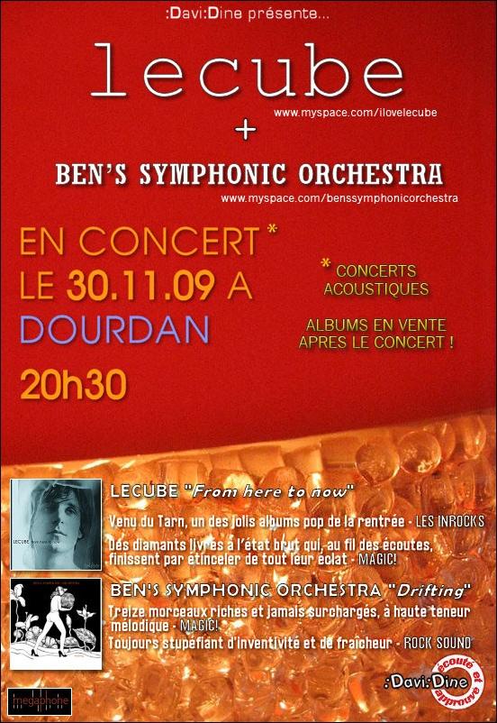 Flyer Lecube & Ben's Symphonic Orchestra